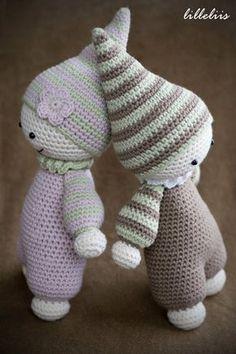 PATRÓN ganchillo peluches-bebés patrón patrón de por lilleliis