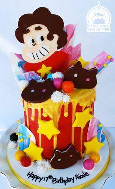 Steven Universe themed drip cake Steven Universe, Cupcake Birthday Cake, Drip Cakes, Cupcakes, Cupcake Cakes, Cake Designs, Cake Decorating, Cartoon Cakes, Birthday Parties