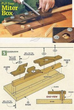 Shopmade Pull Saw Miter Box - Hand Tools Tips and Techniques | WoodArchivist.com