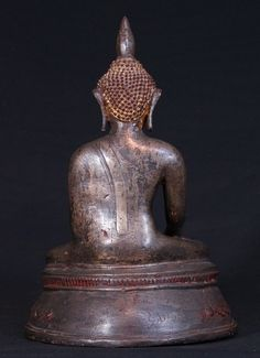 Superb. 14-15th century Toungoo Buddha Material: Bronze 36,5 cm high 25 cm wide Traces of the original gold can be found Toungoo style Bhumisparsha Mudra 14-15th century / early Toungoo Period With inscriptions in the base A very special Buddha, the best bronze Buddha I have bought in a long time. Originating from Burma
