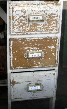 Chipped Distress Filing Cabinet
