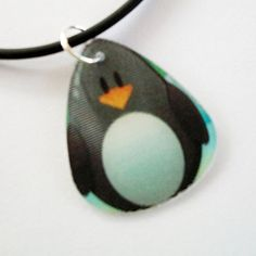 Guitar Pick Necklace Penguin