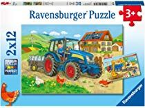 Ravensburger 07616 - Építkezés, farm - 2 x 12 db-os puzzle Ravensburger Puzzle, Disney Cars, Puzzles Für Kinder, Farm 2, Gifts For Boys, Kindergarten, Baseball Cards, Comics, Toys