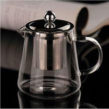 Tamanho múltipla delicado bule de vidro com filtro de aço inoxidável resistente ao calor chá de vidro artesanal bule de chá escritório conjunto de chá(China (Mainland))