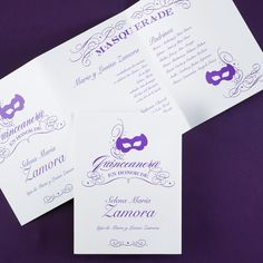 Masquerade - Invitation > Quinceañera | Carlson Craft Wedding & Stationery Products | NORTH MANKATO, MN