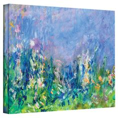 Lavender Fields by Monet Canvas Print