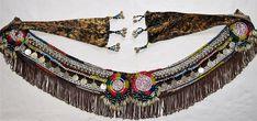 TB54 Tribal belt Green tribal belt Tribal belly dance belt