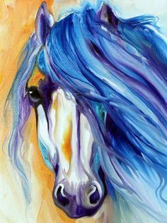 """Starlight Mane (detail 3)"" par Marcia Baldwin"