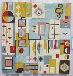 Quiltcon 2017 - Organic Mid-Century Mod by Laura Benett - Group quilt
