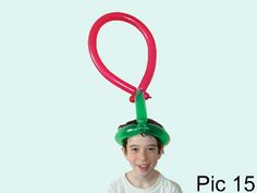 Balloon animals twisting instructions: Balloon target hat. How to make balloon target hat. Games with balloons