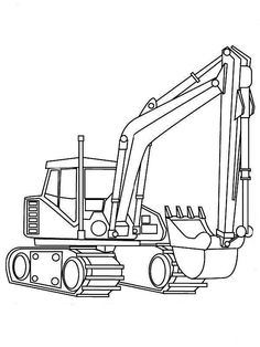 Excavator, : Excavator Digger Coloring Pages Tractor Coloring Pages, Free Kids Coloring Pages, Online Coloring Pages, Disney Coloring Pages, Coloring Book Pages, Coloring For Kids, Printable Coloring Pages, Boy Coloring, Coloring Sheets