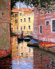 San Severo Venice Painting by Roelof Rossouw Venice Painting, Italy Honeymoon, Watercolor Pictures, Italy Art, Murano, Venice Italy, Beautiful Paintings, Landscape Art, Fine Art America