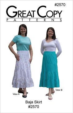 The perfect Summer Skirt! The lower yoke means no gather around the hips. A slimming skirt for all figures types.