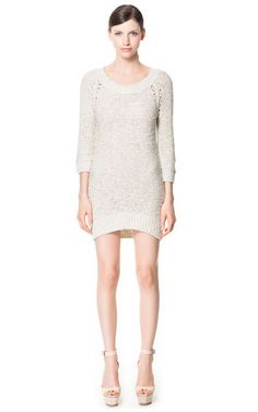 OPENWORK LONG SLEEVE DRESS | Zara