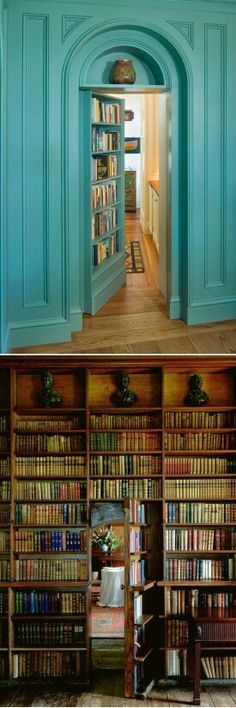 31 Beautiful Hidden Rooms And Secret Passages I often have dreams where I find secret rooms in my house. must mean I'm destined to have a house like this! Future House, My House, Bedroom Doors, Master Bedroom, My New Room, Design Case, Architecture, My Dream Home, Dream Homes