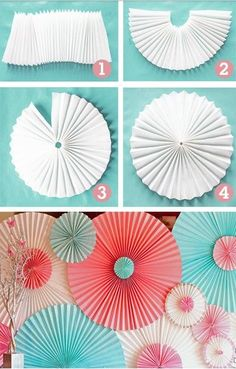 DIY Backyard Party Decor - DIY Paper Rosettes - Cool Ideas for Decorations for Parties - Easy and Cheap Crafts for Summer Barbecues and Family Get Togethers, Swimming and Pool Party Fun - Step by Step Tutorials For Banners, Table Decor, Serving Ideas