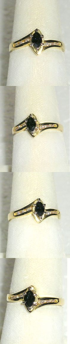 Rings 165044: Solid 14K Gold Sapphire Diamond Fashion Ring -> BUY IT NOW ONLY: $200 on eBay!