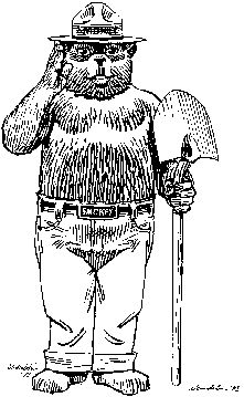 Smokey The Bear Gets Pwned Back In The Day