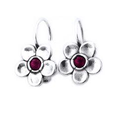 Cercei argint 925 Israel floare cu granat - Be Nature Israel, Big, Nature, Silver, Vintage, Jewelry, Naturaleza, Bijoux, Jewlery