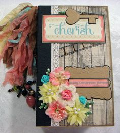 TPHH Sharon Chipboard PREMADE Vintage Keepsake Photo Scrapbook Album ~Video  #Any