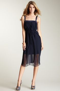 Jessica Simpson brand navy dress. (I bought this and it is amazing)
