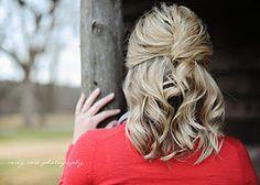 wedding hair half up french twist