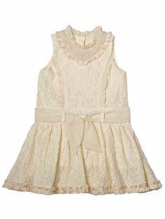 Trish Scully Child Dobby & Ivory Lace Princess Dress