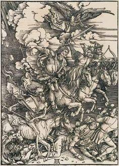 Four Horsemen Apocalypse by Albrecht DurerFramed canvasWall art poster
