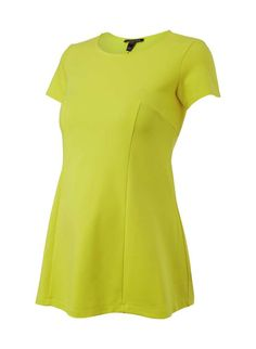 Lauryn Seam Detail Maternity Top in Yellow | Isabella Oliver UK