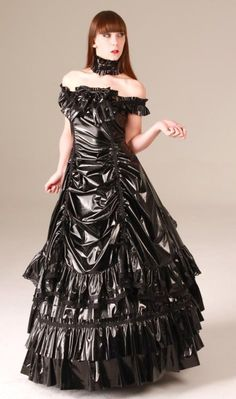 – Source by lacklatex – Satin Dresses, Ball Dresses, Sexy Dresses, Beautiful Dresses, Dress Outfits, Ball Gowns, Pvc Fashion, Gothic Fashion, Gothic Mode