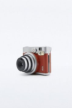 Fujifilm Instax Mini 90 Camera in Brown Leather - Urban Outfitters