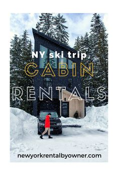 Are you planning a ski or snowboard trip in New York? Here are the best cabin vacation rentals near ski resorts in or near upstate NY. Summer Vacation Spots, New York Vacation, New York Travel, Vacation Rentals, Lake George Village, Fun Winter Activities, Road Trip Destinations, Cabin Rentals, Ski Resorts