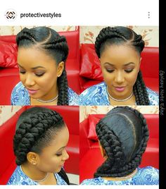 Double french braids, so cute!
