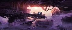 Warframe - Corpus Ice Planet Wreckage I-J by Zeljko Duvnjak #art #scifi