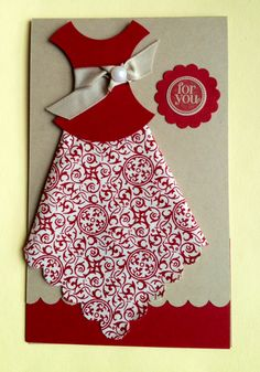 dress template for card making | The Flying Stamper: Fabric Card