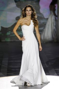 one shoulder Elie Saab for Pronovias Wedding Dress
