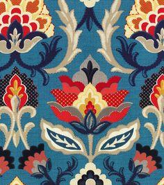 Waverly Upholstery Fabric-Isadora/Adriatic