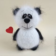 Купить Пандик. - черно-белый, панда, панда игрушка, мишка панда, вязаный мишка