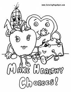 Healthy Food Vegetables Coloring Pages | Preschool | Pinterest
