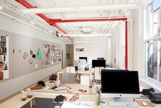 Workspace at Loeffler Randall's Fashionable NYC office