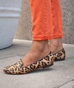 These Steve Madden loafers make a perfect pairing with bright orange denim. (From Refinery29 Fancy Feet! 10 Ultra-Chic Snaps Of The Coolest Kicks In Town)
