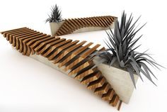 Urban Bench with a Planter by Juampi Sammartino | Modern Outdoors