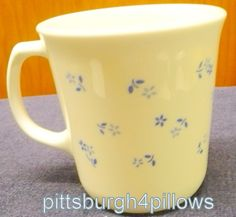 1 - Corning - Provincial Blue - Coffee Cup - EUC by pittsburgh4pillows on Etsy