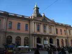 In het voormalige beursgebouw van Stockholm uit 1776 vind je alles over de Nobelprijzen die in december worden uitgereikt in Stockholm. Overigens niet hier maar in het blauwe Konserthuset aan Hotorget.