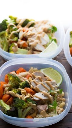 Peanut Lime Chicken Lunch Bowls | 19 Easy Hot Lunch Ideas That Will Warm Up Your Freezing Office