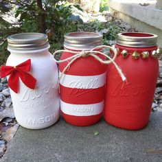 Christmas Mason Jars by ThisIsElevenEleven on Etsy