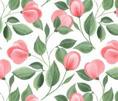 Romantic flowers 2 fabric by gribanessa on Spoonflower - custom fabric
