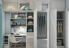 wardrobe and desk combined - Google Search