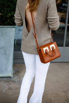 Backless sweater.