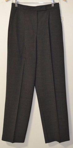 NWT Liz Claiborne Women's Gray Plaid Trouser Dress Career Pants Size 6 Lizsport #LizClaiborne #DressPants
